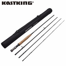 KastKing Brand 2017 NewKatmai 9FT Carbon Fly Fishing Rod 4 Sections Lake River Fishing Rod with Snake Guide and Ceramic Guide