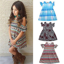 baby girl clothes Girls Summer Dress Kids leopard Vintage Plaid Dresses Party Princess Children Vestidos Birthday Party dress