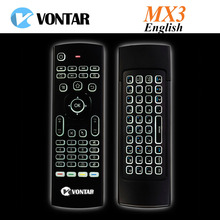 VONTAR Newest MX3 Air Mouse Backlight optional MX3 Wireless Keyboard 2.4G IR Learning Fly Air Mouse Backlit For Android TV Box