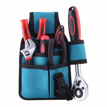 Waist Carpenter Hammer Wrench Tool Bag Pockets Electrician Tool Pouch Holder Pack Canvas Electrical Repair Pockets Waterproof
