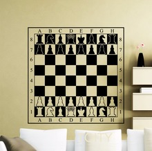 Chessboard Decal Chessmen Checkerboard Wall Vinyl Table Sticker Room Design Interior Art Decor Cool Mural