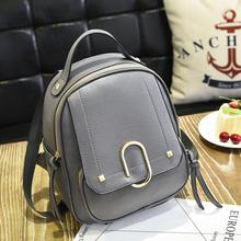 Newest Fashion Women PU Leather Backpack Euro College Travel Shoulder Bag Daypacks Casual Brand Designer Rucksack For Lady Girl