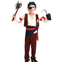 Boys Cosplay Pirate Costume Children's Halloween Costumes Stage Party Game Uniforms(China)