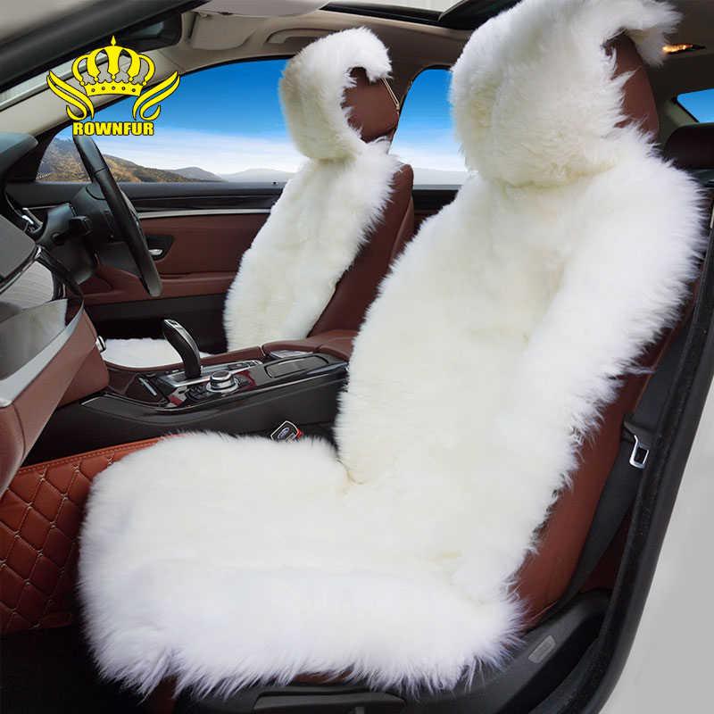 Меховая накидка на сиденья автомобиля