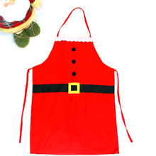 Christmas Santa Claus Apron Holiday Aprons Patterns Funny Sexy Women Kids Child Chef Cotton Cooking Kitchen Dinner Apron(China)