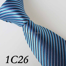 2017 Latest Version Men's Tie Border Dark Blue/Cyan/Silver Gray Sloping Grain Necktie&Men's Designer Ties&Classic Tie&Luxury Tie
