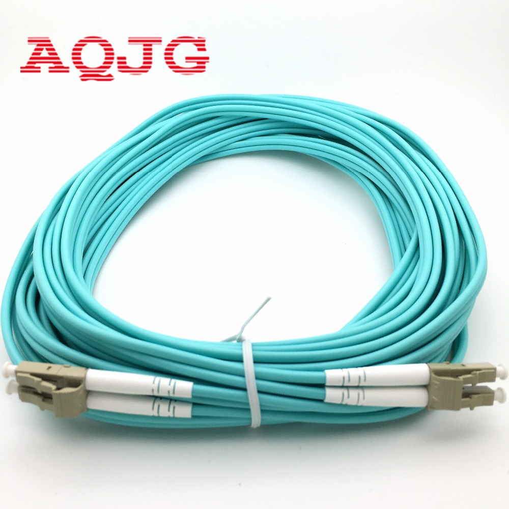 40 Meters LC-LC LC/UPC-LC/UPC Multi-Mode OM3 Fiber Cable Multimode Duplex Fiber Optical Jumper Patch Cord<br>