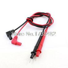 2Pcs Black Red Digital Multimeter Test Extension Lead Wire