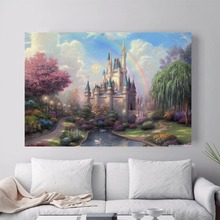 Thomas Kinkade Kids Cartoon Modern Poster Art Wall Pictures Silk Fabric Printed Painting Room Decoration Home Decor No Frame