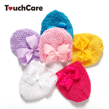 Infant Spring Colorful Lace-up Baby Boy Girl Caps Newborn Soft Cotton Bow-knot Hat Sweet Beanie Hollow Lace Kids Hats