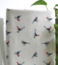 Sold By Half a Meter Bird Print Cotton Linen Fabric Retro Canvas Textiles Table Cloth Sofa Car Decor(China)