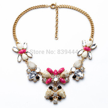 Wholesales Jewelry Supplier Summer New Design Fashion Jewelry Gold Color Elegant Bubble Resin Necklaces