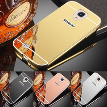 Luxury Rose Gold Mirror Case For Samsung Galaxy S4 mini Case Cover i9190 Case on For Samsung Galaxy S4 mini I9190 Cover