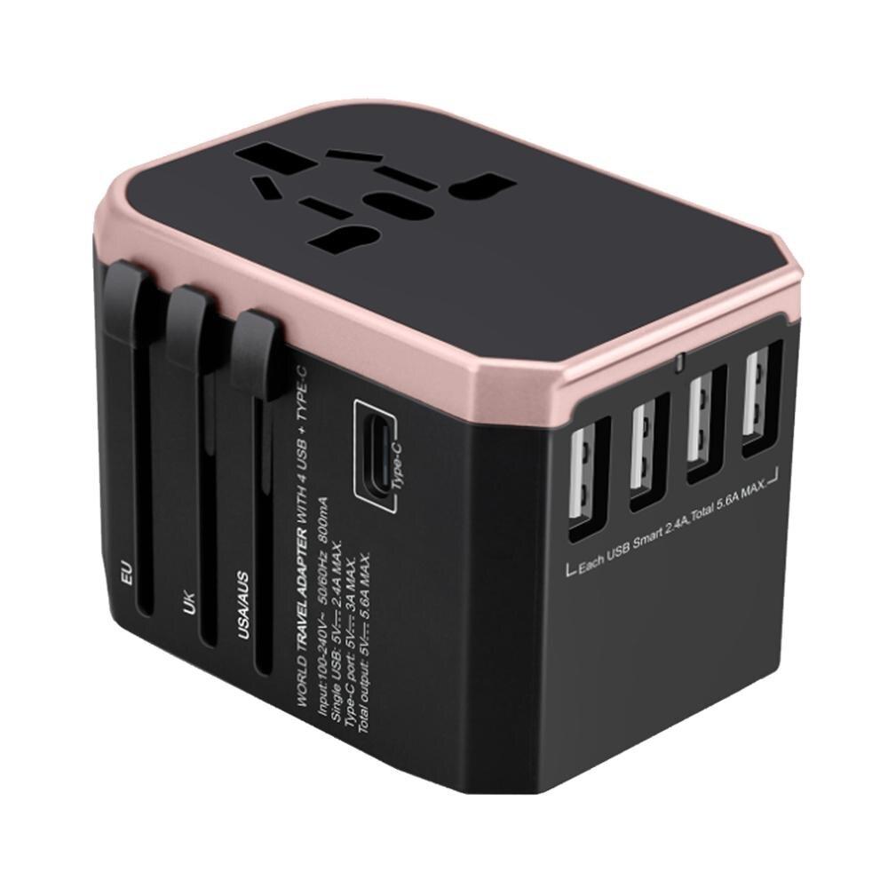 Adaptador de enchufe para viajar mundial Convertidor para cargar en AU/UK/US