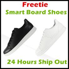 2017 Xiaomi Free Tie Freetie Leisure Genuine Leather Smart Board Shoes Breathable Design Supporting Xiaomi Smart Chip