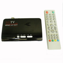 Digital Terrestrial HDMI DVB T T2 Protocol TV Box HDMI AV CVBS external TV Tuner Receiver With Remote Control for lcd monitor(China)