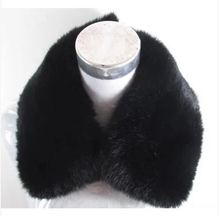 Men's genuine rabbit fur collar natural fox fur nick clothing unisex big square collar black and white high quality full pelt(China)