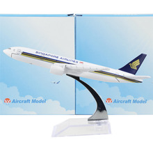 Singapore Airline Boeing 777 16cm model airplane kits child Birthday gift plane models toys Christmas gift(China)