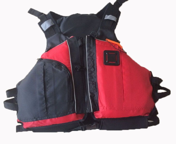 Free shipping CE Certified Kayak Life Jackets,Rafting life vest Adult red color Buoyancy aids PFD big pocket(China)