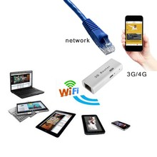 Mini 3G Portable USB Modems WiFi Hotspot 150Mbps RJ45 Wireless Support For IEEE 802.11b/g/n Router Adapter Repeater