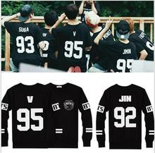Hot Sale New Arrivals BTS T-Shirts Baseball Black T Shirt Men Women Tops Long Sleeve Casual Tees Clothes Ropa Mujer(China)