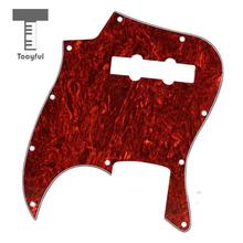 Tooyful Hot 1Pc Anti-Scratch Celluloid &PVC Tortoise Shell Pickguard 3 Ply for Jazz J Bass Stratocaster Brand Guitar Lovers Red(China)
