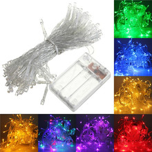 4M 40 LED Battery Operated LED String Lights for Xmas Garland Party Wedding Decoration Christmas Flasher Fairy Lights On Sale(China)