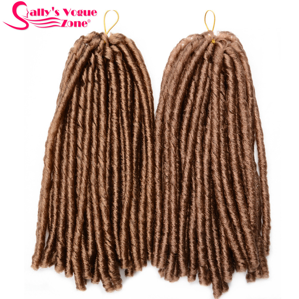 24 Roots Faux LocsCrochet Hair 18 Crochet Faux Lock Dreadlock Crochet Braids hair Extensions Synthetic Braiding hair Soft lock (154)_