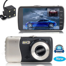 4.0'' Hd 1080p Dual Lens Dash Camera Car Dvr Dashcam Vehicle Video Recorder Cam Night Vision Ship From Usa Uk Germany Australia(China)