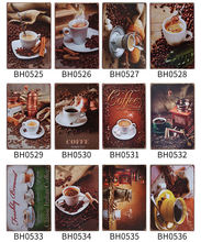 20 kind of HOT vintage coffee tea sweet  food Pub Sign HOT DOG  CAFE Theme Bar decor Size  metal painting 20x30CM