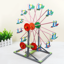 1 Set Baby Educational Children's DIY 3D Ferris Wheel Wooden Jigsaw Puzzles Model Buildings Handicraft Kids Creative Toys Gifts(China)