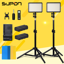 Godox 2*LED 308W 5600K Professional LED light +2* Light Stand +2*NP-F550 Battery +Charger for photography lighting video light(China)