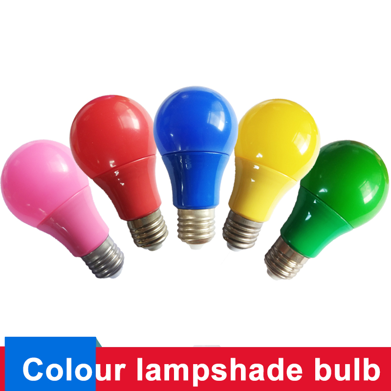 E27 Colorful Globe Light Bulb Led Bar Light 5W 7W 9W Red Blue Green Yellow Pink Lampara Led Bombillas For Bar KTV Party Lighting