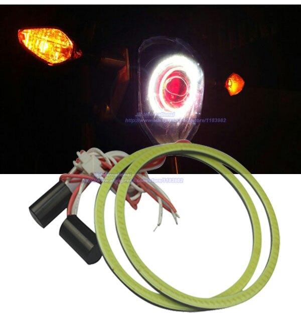2 pcs x Ultra-Thickness COB LED 12V-24VDC Car LED Angel Eyes for Motorcylce Honda Grom 2014<br><br>Aliexpress