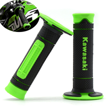 Dirt bike Rubber Handlebar grips For Kawasaki KX KLX KFX KDX 65 80 85 125 250 250 450 450 150 F/R/S Kawasaki logo(1985-2016)(China)