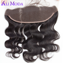 Ali Moda Hair Peruvian Body Wave 13x4 Lace Frontal Pre Plucked With Baby Hair 100% Human Hair Closure Remy Hair Free Shipping