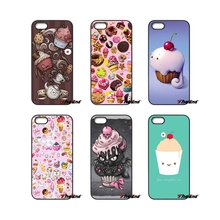 Chocolate Nutella cupcakes Cherry ice cream Case For HTC One M7 M8 M9 A9 Desire 626 816 820 830 Google Pixel XL One plus X 2 3