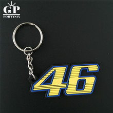 "GPFORTYSIX MotoGP VR46 Valentino Rossi Keyring the doctor ""46"" keychain Rubber Motorcycle racing Key Chain Formula1 wholesale(China)"