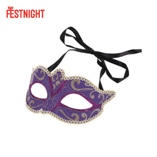 6 Color Halloween Women Costume Prom Mask Venetian Mardi Gras Party Dance Masquerade Ball Halloween Mask Fancy Dress Costume(China)
