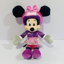 New Pilot Minnie Plush For Girls 35CM Kids Stuffed Animals Toys Children Christmas Gifts(China)