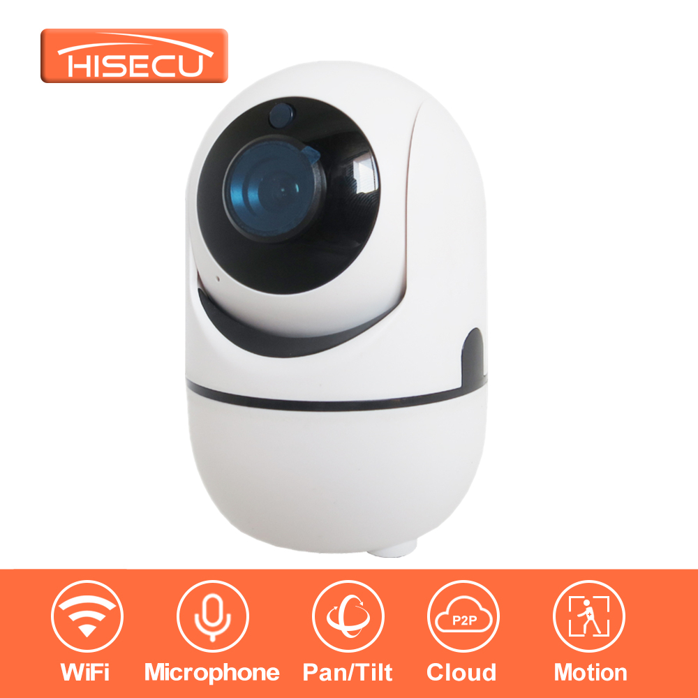 (White)HiSecu 1080P Full HD Wireless Home Security IP Camera IR-Cut &amp; Night Vision &amp; Two-Way Audio Recording Surveillance Indoor<br>
