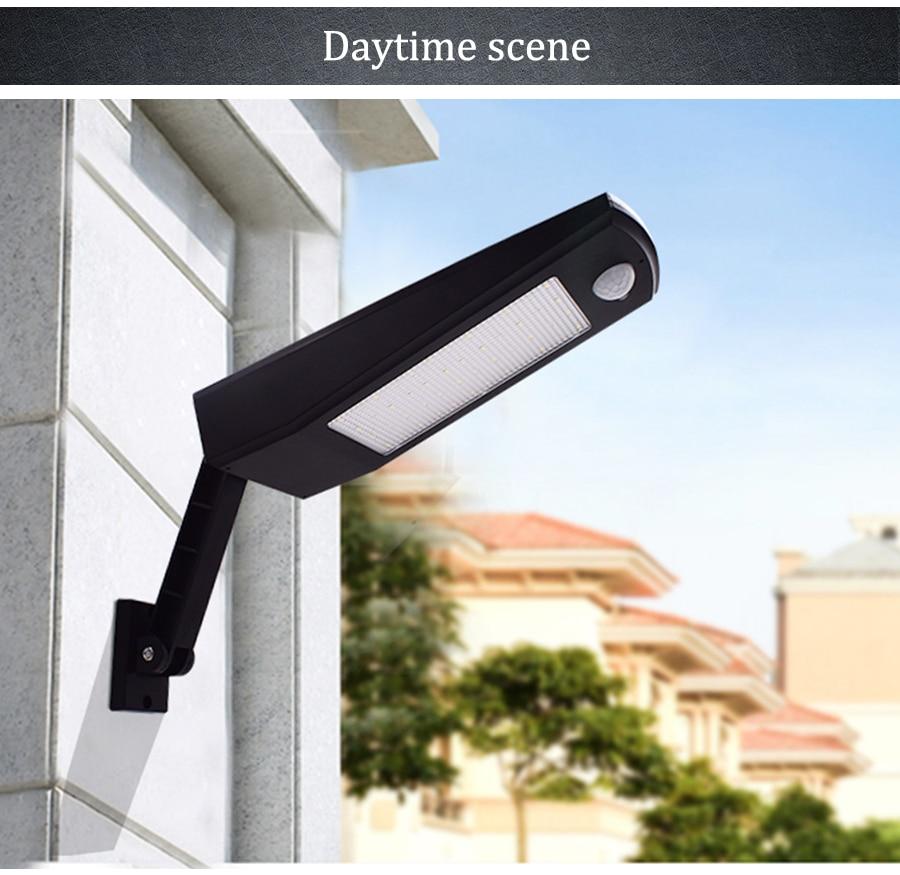 48 LED Outdoor Motion Sensor Light Solar Lights 900LM Lamp For Wall Garden Yard
