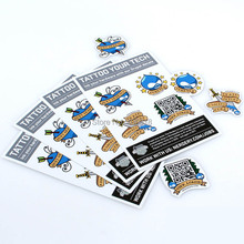 Customized Removable vinyl sticker labels and Pvc die cut sticker custom, Full Colors roll print labels ---- DH10036