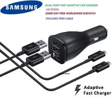 Original Samsung Galaxy S7 S6 S6 edge S7 EDGE  Note 4  Note 5 15W Fast Car Charger+Micro USB cable 1/Double USB black and white
