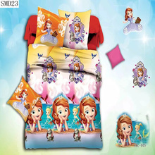 Special offers 3d cartoon series bedding set the queen size include pillowcase duvet cover bed sheet fast shipping big sale