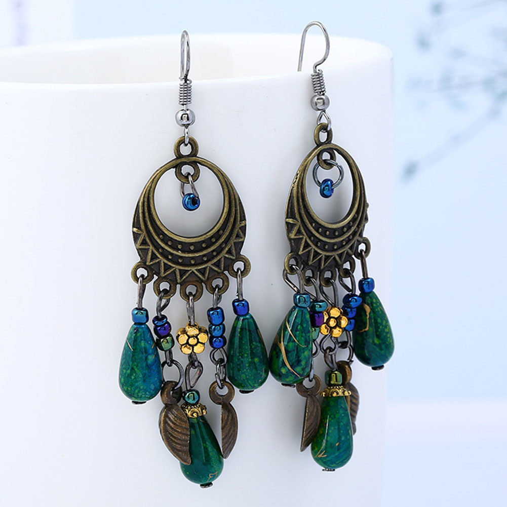 Bohemia  Tassel Drop Earrings Women Latest  Flower  Hot Available Excellent Classical