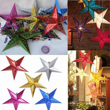 30cm 12 inch shiny star Paper lampshade lanterns flower Party Decor Craft For Wedding Decoration colorful Wholesale