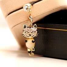 Smiling Tiger With Opal 3.5mm Earphone Plug Anti-dust  Hole Dustproof Plug Universal Mobile Phone Earphone Dust Plug