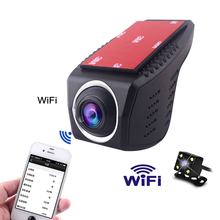 Mini WiFi Car DVR FHD Night Vision 1080P Dash Cam Recorder Rotatable Dual Lens with rear camera Wireless Snapshot Auto Camcorder