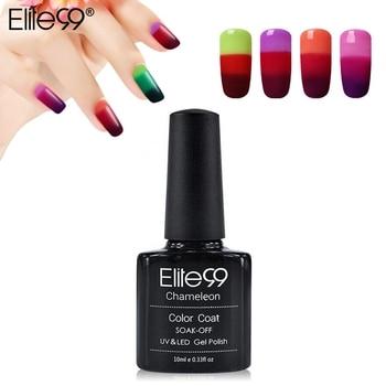 Elite99 3-en-1 Thermique Changement de Couleur Nail Gel Polish Soak Off UV LED Base Haut Professionnel Beauté Choix Gel Nail Pick 1 Couleur